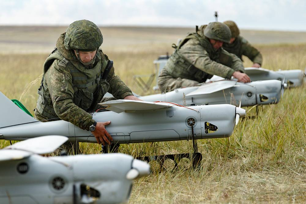Orlan-10 unmanned aerial vehicles