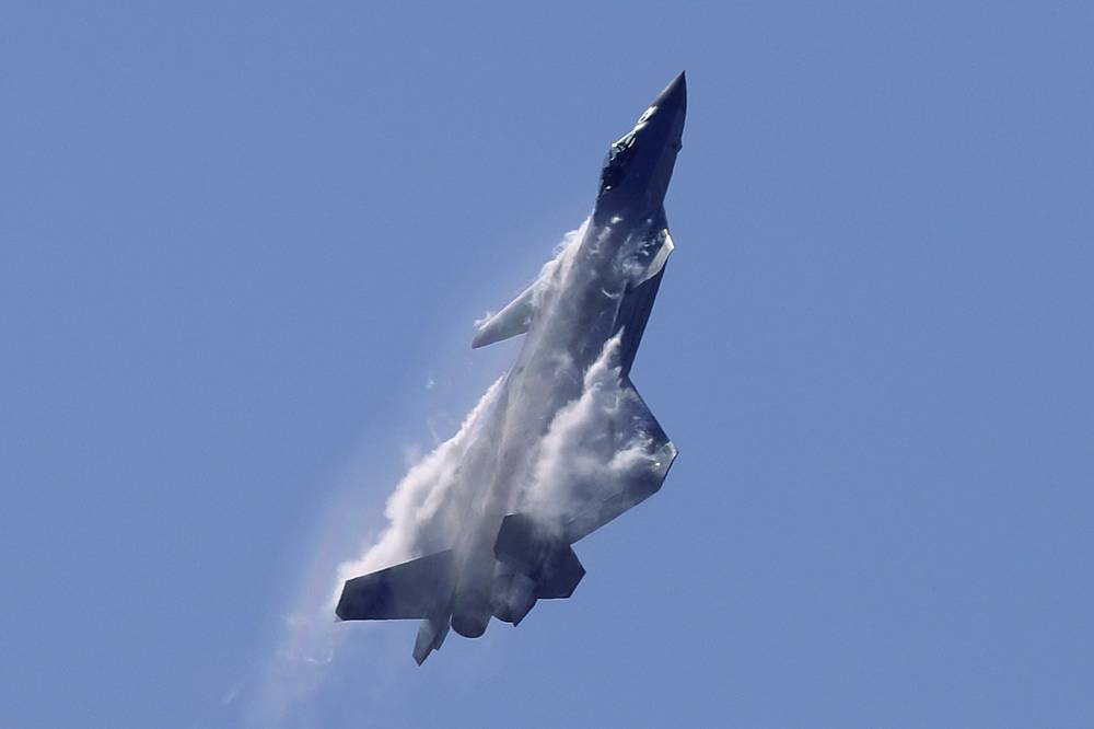 J-20 stealth fighter jet of the Chinese People's Liberation Army Air Force