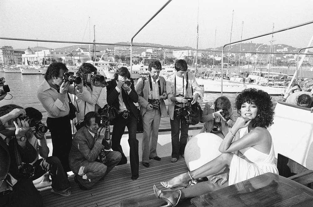 British actress Joan Collins at the 32nd International Film Festival in Cannes, 1979