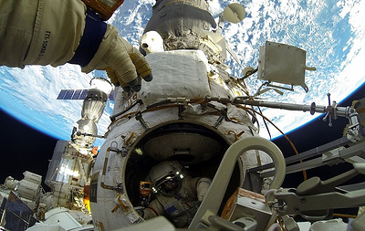 Russian cosmonauts carry out ISS spacewalk