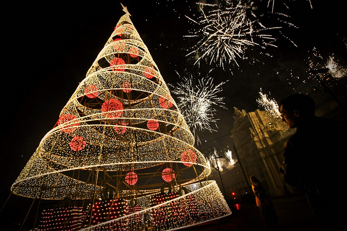 Christmas tree in Lisbon