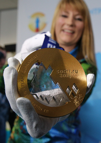 Olympic medals arrived in Sochi today