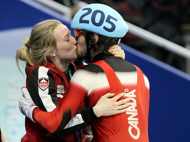 Charles Hamelin of Canada is dating another Canadian athlete Marianne St-Gelais