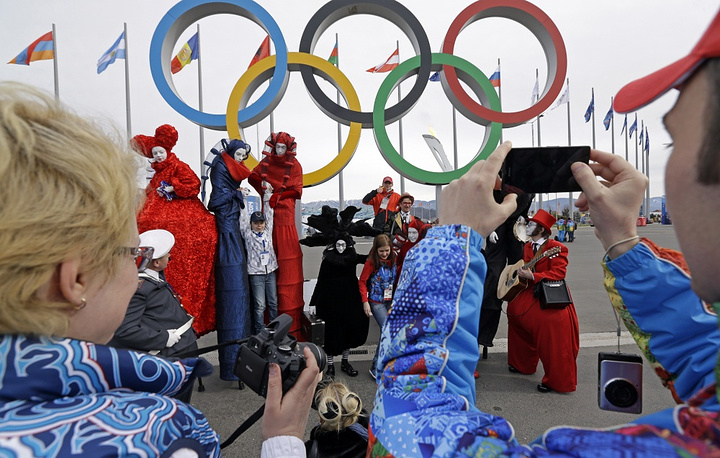 The Olympic rings are the most photographed object in Sochi