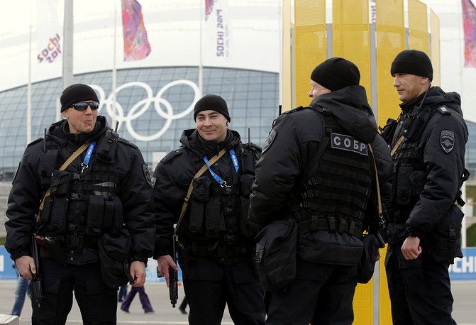 Russian special force police officers in Sochi
