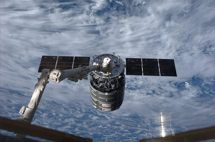 Cygnus resupply spacecraft packed with 3,000 pounds of equipment, food, Christmas presents and even some ants for an educational project. The delivery was a month late