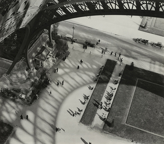"The 3000-meter tall tower was far higher than any other building of its time and kept the record till 1931. Photo by  André Kertész: ""Under the Eiffel Tower"", 1929"