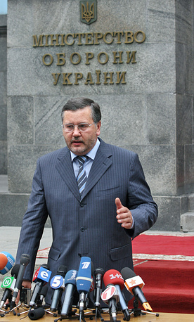 Former defence minister Anatoly Gritsenko