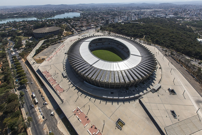Mineirao stadium was established in 1965 in Belo Horizonte. It was recently reconstructed to have a capacity of 70,000 people