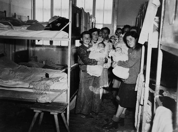 Women and their newborn children after the liberation of the Dachau concentration camp