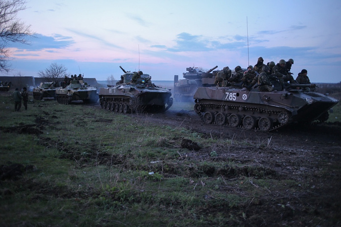 Ukrainian airborne brigade stationed outside Sloviansk