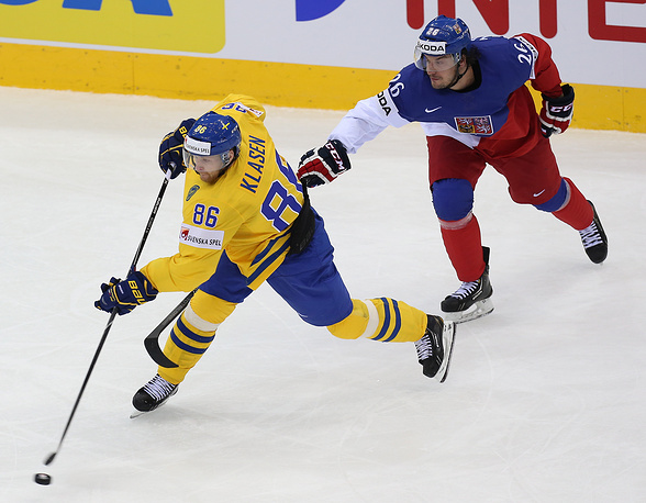 The Swedish team won the game against the Czech Republic with the score of 4:3
