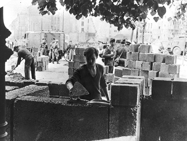 In the 1950's the USSR started controlling national movement. In 1956, all travel to the West was restricted and in 1961 the construction of a wall between two parts of Berlin started