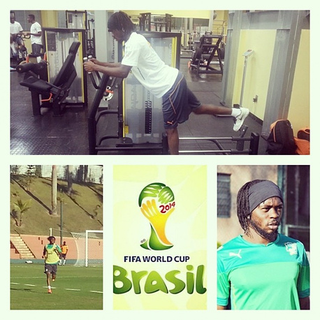 This collage was posted by Brazil's Gervinho on Instagram