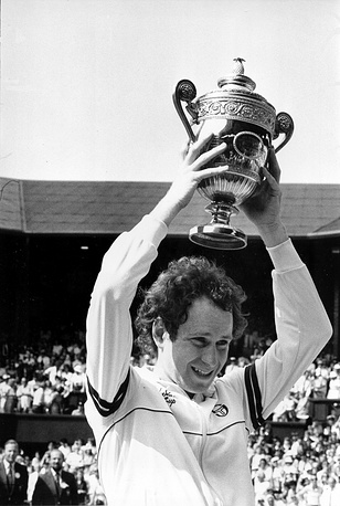 John McEnroe is a US tennis player who won Wibledon thrice. McEnroe is known for his shot-making artistry and  confrontational on-court behavior