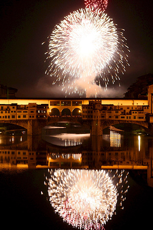 The Ponte Vecchio (translated Old Bridge) is a renowned symbol of Florence. There are shops built along the bridge
