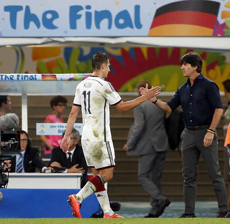 Miroslav Klose didn't manage to renew his record as the best scorer of World Cup Finals