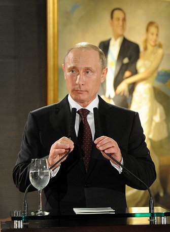 Vladimir Putin at the official dinner hosted by Argentina's President Cristina Fernandez de Kirchner