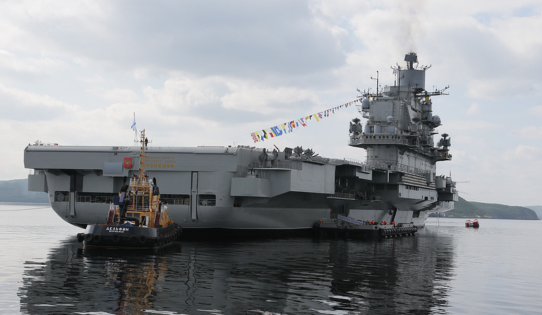 Admiral Kuznetsov heavy aircraft carrier in Severomorsk