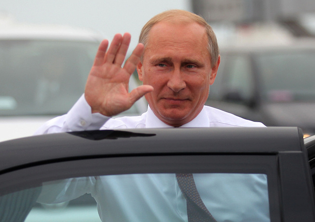 Russian President Vladimir Putin upon arrival to Minsk