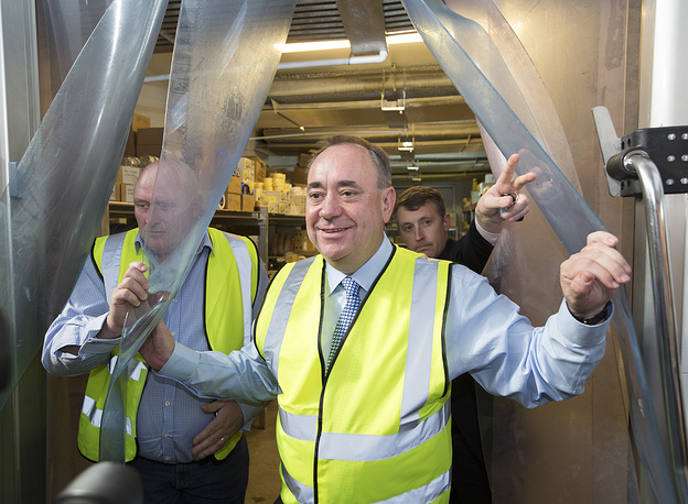 Scottish First Minister Alex Salmond is the leader of 