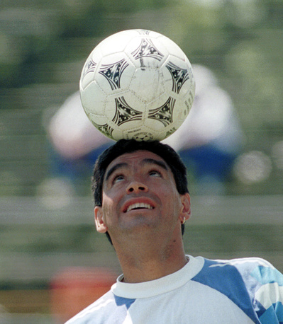 Legendary Argentine footballer Diego Maradona was involved in several doping scandals, related to alcohol and drugs abuse. In 1998, the football player was found guilty of shooting journalists and in 2001 he was accused of € 40 million tax debt. Photo: Diego Maradona, Boston, USA, June 22, 1994