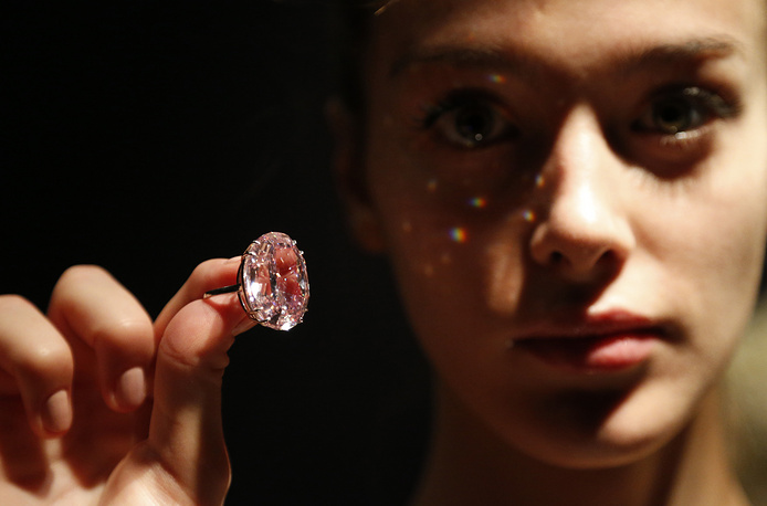 In 2013 the Pink Star diamond was auctioned by Sotheby's. A 59.6-carat oval cut diamond was bought by New York diamond cutter Isaac Wolf for $83,2 million. He later renamed it The Pink Dream