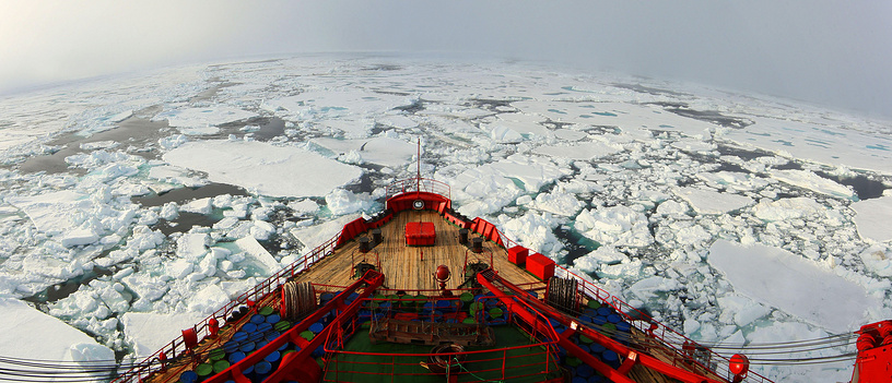 Yamal nuclear icebreaker launched in 1992 is frequently used to carry passengers on arctic excursions. Photo: Yamal nuclear icebreaker