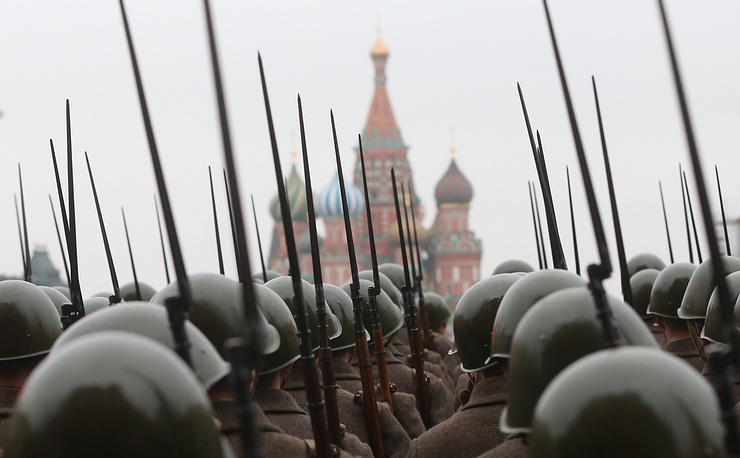 A march on Moscow's Red Square dedicated to the 73rd anniversary of the historical parade that took place on November 7, 1941