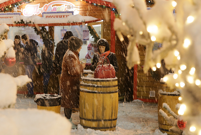 Photo: Christmas Fair on Moscow's Red Square