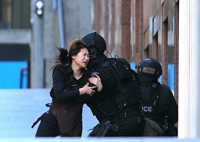 The standoff followed news reports that police had arrested a terrorism suspect in western Sydney
