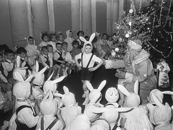 New Year celebration in a kindergarten, Moscow, 1964