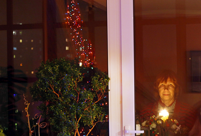 Local resident in Rostov-on-Don during New Year's eve