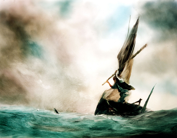The Old Man and the Sea paint-on-glass-animated short film by Aleksandr Petrov won the Academy Award for Animated Short Film in 2000