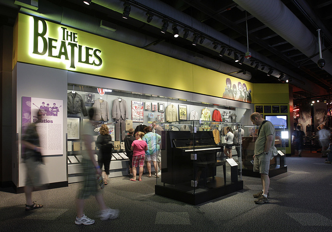 An exhibit on The Beatles, at the Rock and Roll Hall of Fame and Museum in Cleveland, USA