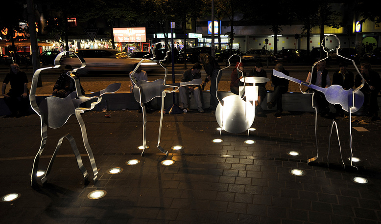 The sculptures of the Fab Four on the Beatles-Platz square in Hamburg, Germany. The Beatles started their career in the Star Club in Hamburg in 1962