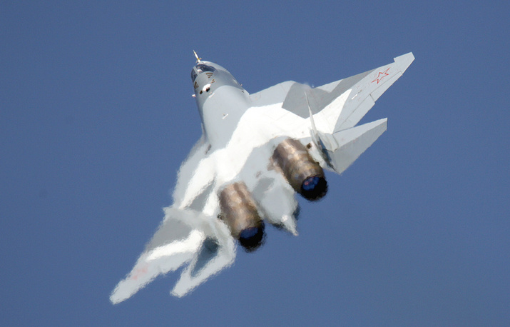 85% of the surface of Russian T-50 is covered with unique nano materials that decrease both the visibility of the plane and the air drag. Photo: Sukhoi's T-50 multirole 5th generation fighter jet