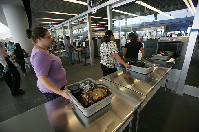 JetBlue Airways, an American low-cost airline, is ranked 9th. Photo: Passengers at a security check point at JetBlue Airways' Terminal at John F. Kennedy International Airport in New York