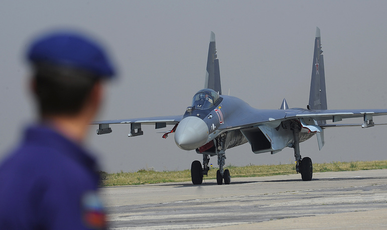 Sukhoi Su-35 is a supermaneuverable multirole fighter, also known as Super Flanker. Su-35S is a heavily upgraded highly manoeuvrable 4++ multirole fighter jet using fifth generation technologies that gives it the upper hand over fighter planes of the same class