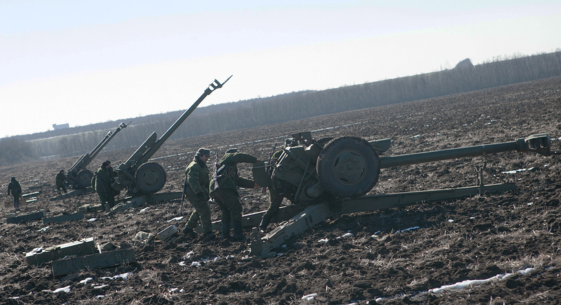 DPR heavy weaponry pullback, Feb. 18