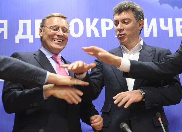 "In September 2010, together with Vladimir Ryzhkov, Mikhail Kasyanov and Vladimir Milov, Nemtsov founded the ""For Russia without Lawlessness and Corruption"" party, which, later was transformed into the People's Freedom Party (abbreviated as Parnas)"