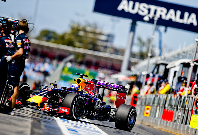 Formula One 2015 season begins with Australian Grand Prix on March 13. Photo: Australian Formula One driver Daniel Ricciardo of Red Bull Racing during the first practice session at the Albert Park circuit in Melbourne