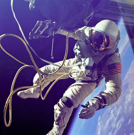 US Astronaut Edward White became the first American to have followed in Leonov's footsteps to make a spacewalk from the Gemini spacecraft, which continued a total of 36 minutes