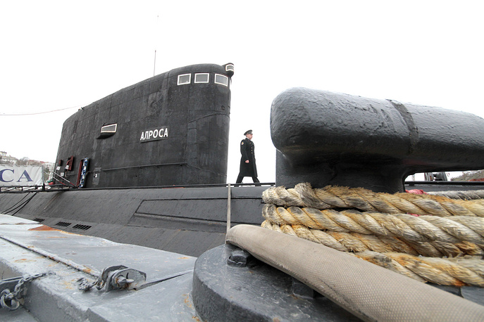 Diesel-electric Kilo-class submarine Alrosa of the Russian Black Sea Fleet