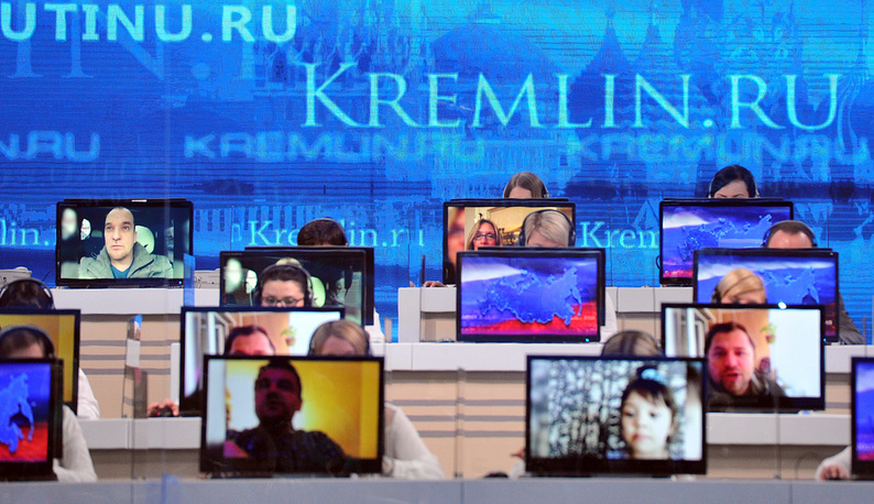 A special call centre began processing questions to the Russian president a week ago. Many questions were also sent by SMS or MMS messages and via a special mobile application