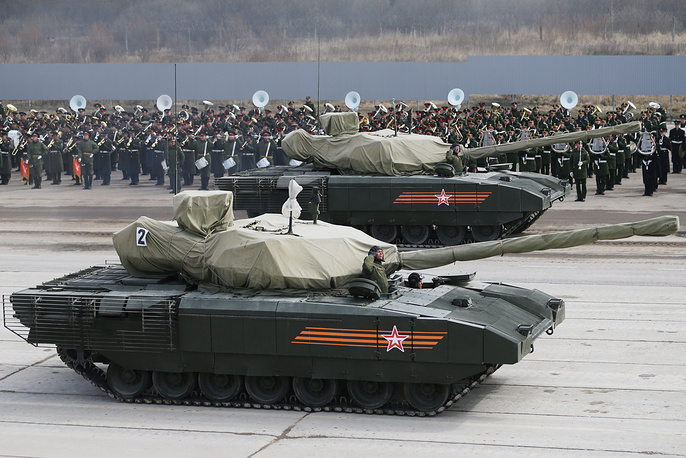 Russia's new generation T-14 tank on Armata platform