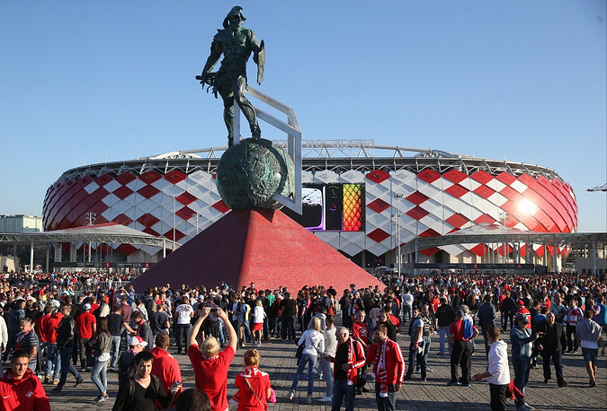 Moscow's recently-built Otkritie-Arena stadium, which opened on September 5