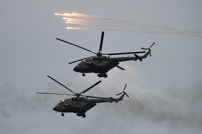 Mil Mi-8 helicopters