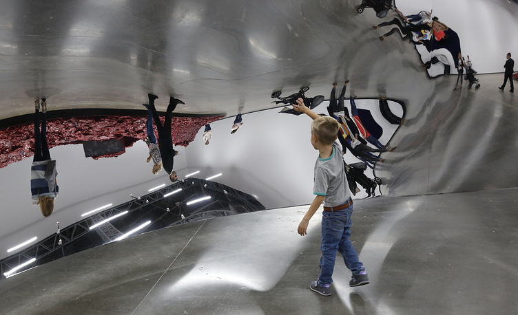 Artwork 'S-curve' at the Jewish Museum and Tolerance Center in Moscow