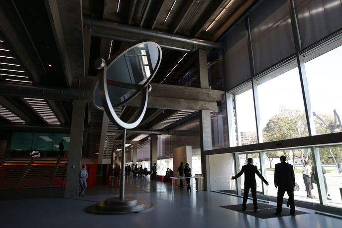 The entrance hall of the Garage Museum of Contemporary Art